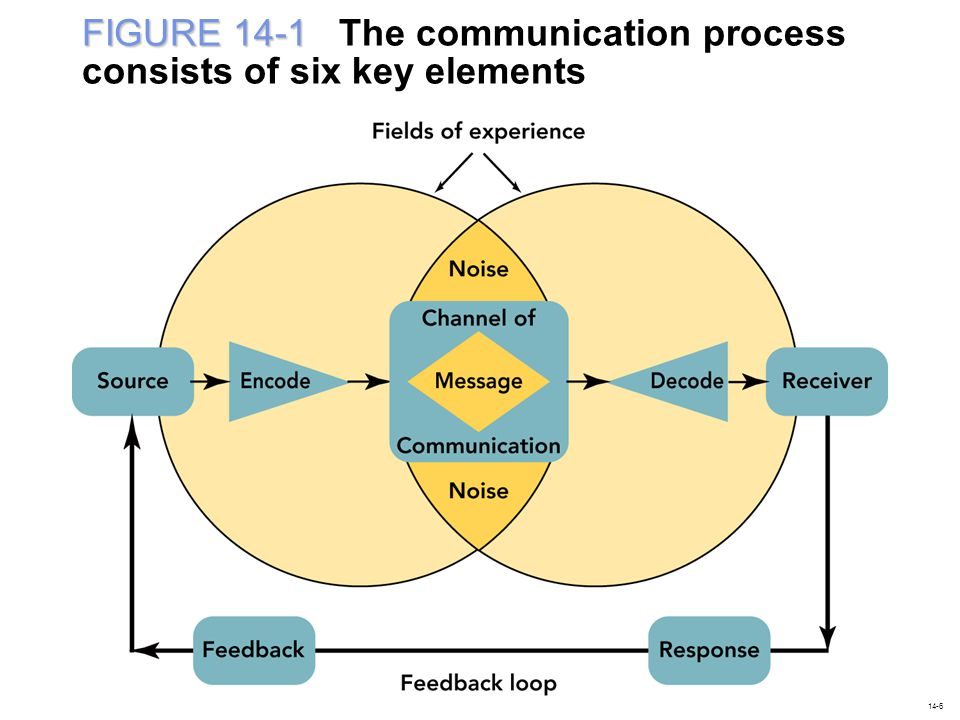 FIGURE 14-1 The communication process consists of six key elements