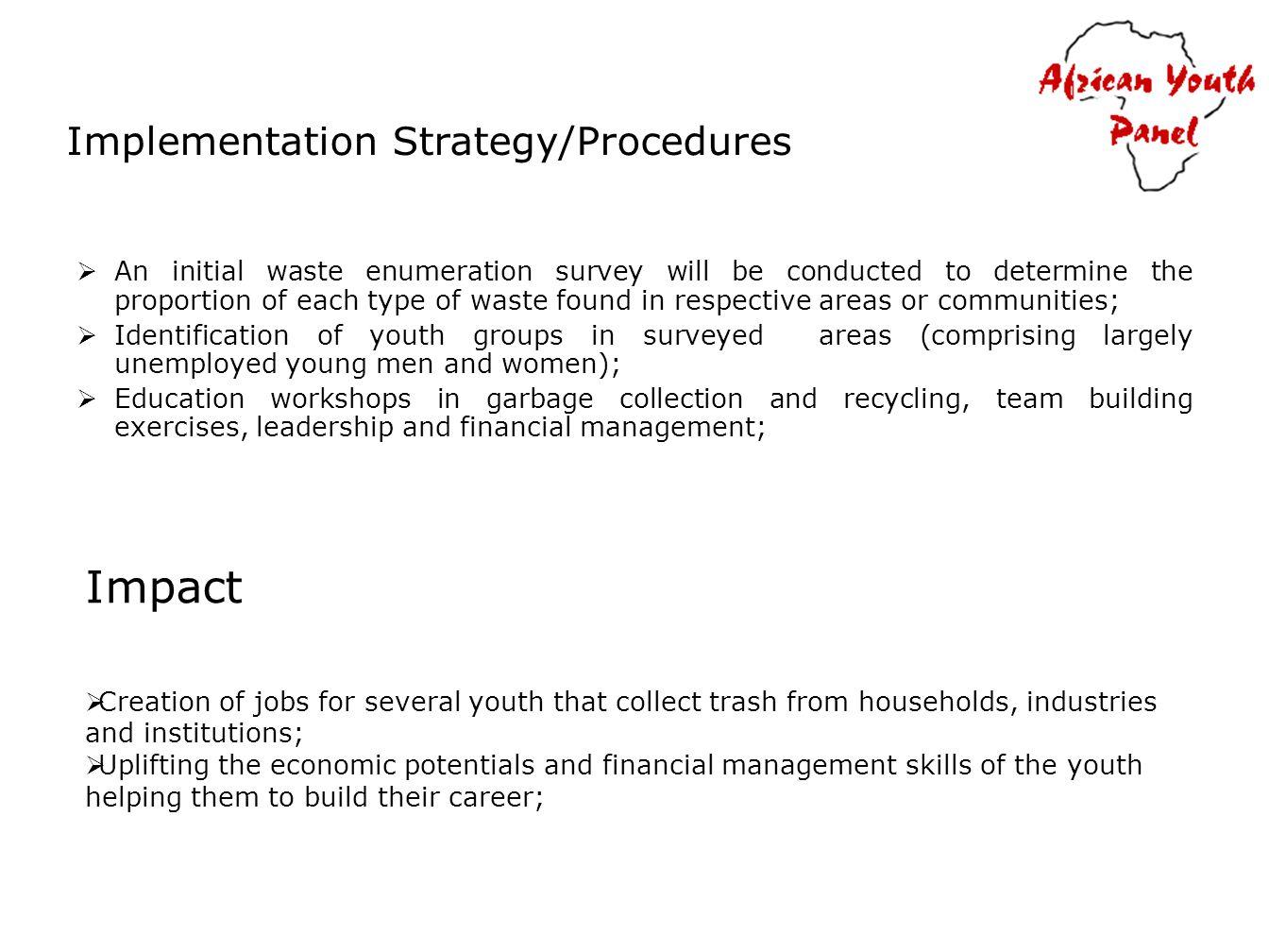 Implementation Strategy/Procedures