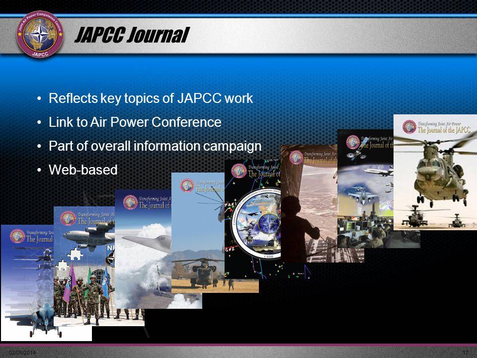JAPCC Journal Reflects key topics of JAPCC work