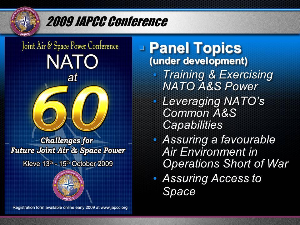 Panel Topics (under development)
