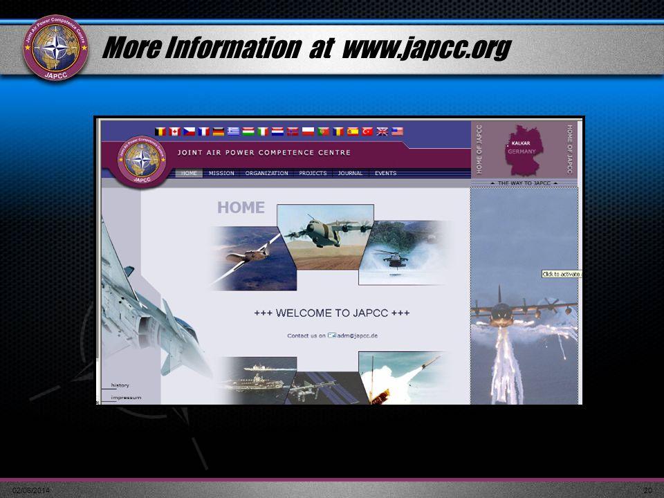 More Information at www.japcc.org