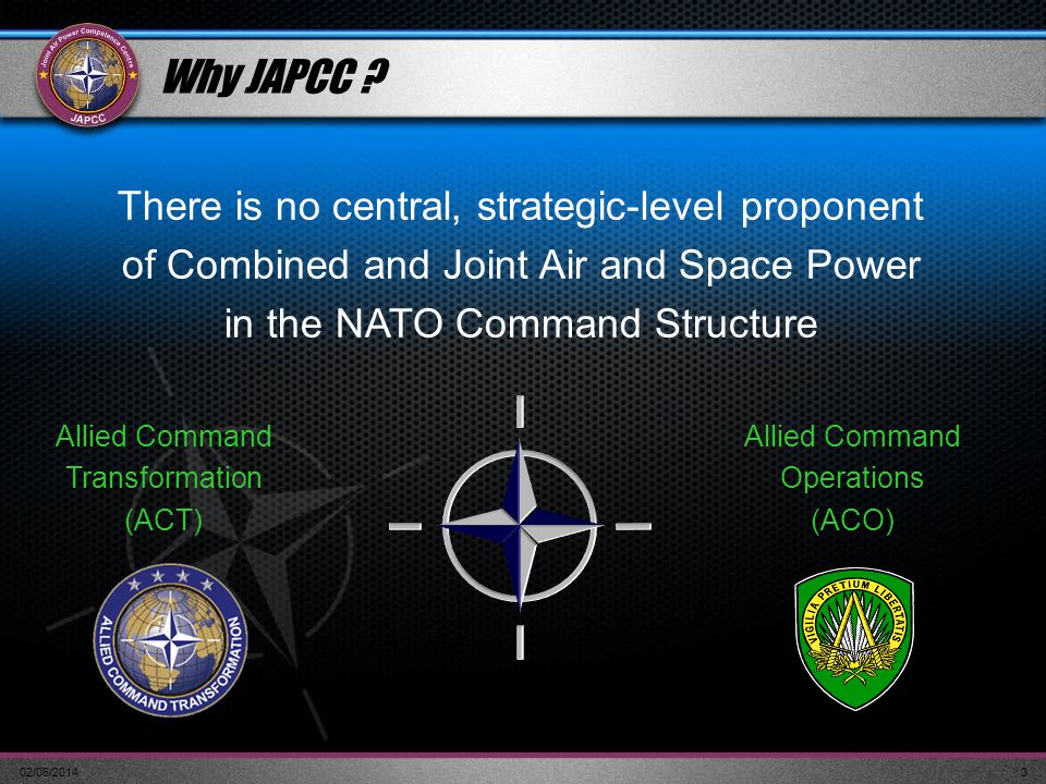 Why JAPCC There is no central, strategic-level proponent