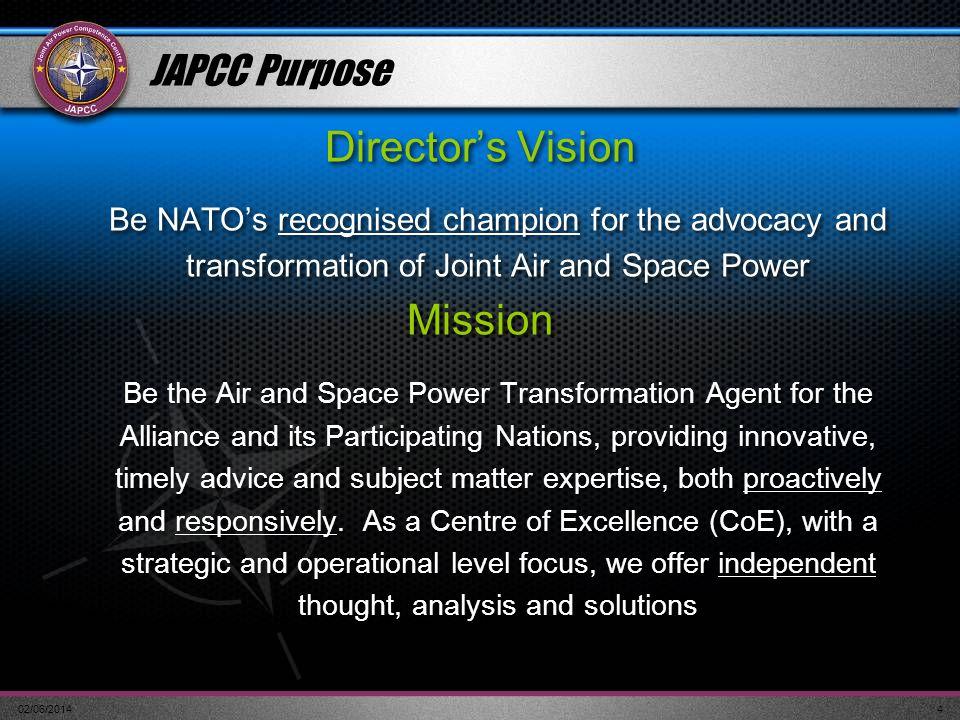 Director's Vision Mission JAPCC Purpose