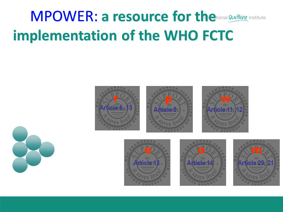MPOWER: a resource for the implementation of the WHO FCTC