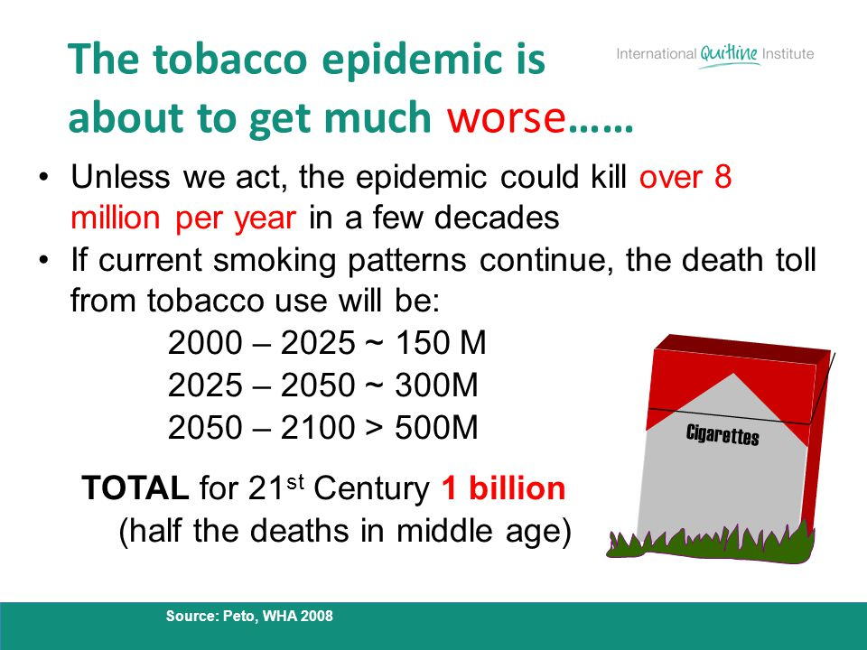 The tobacco epidemic is about to get much worse……