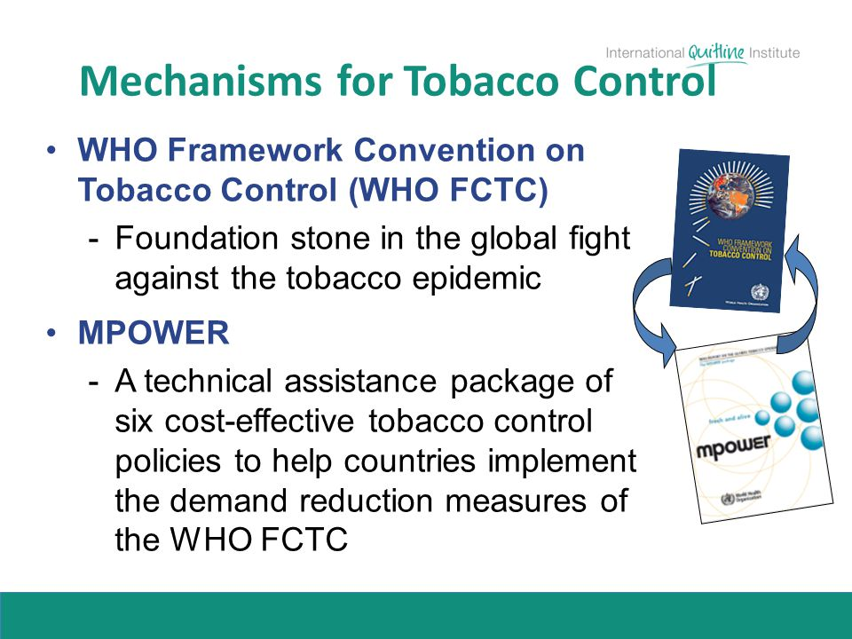 Mechanisms for Tobacco Control