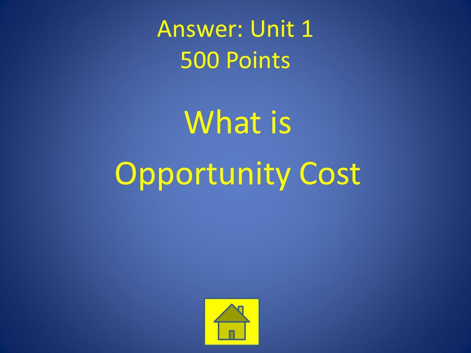 What is Opportunity Cost