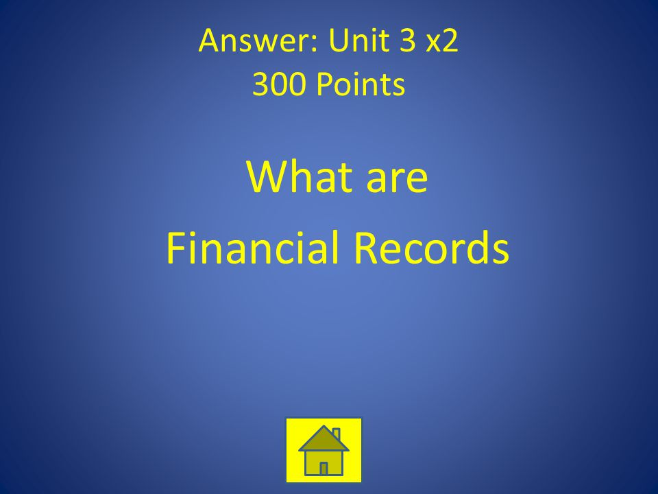 What are Financial Records