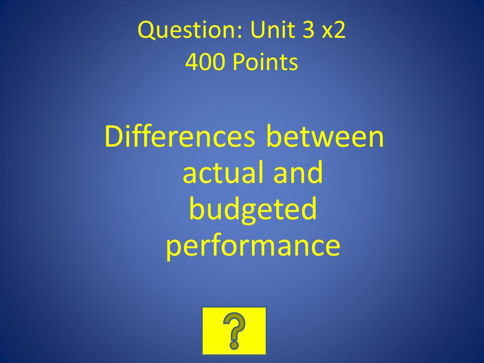 Question: Unit 3 x2 400 Points