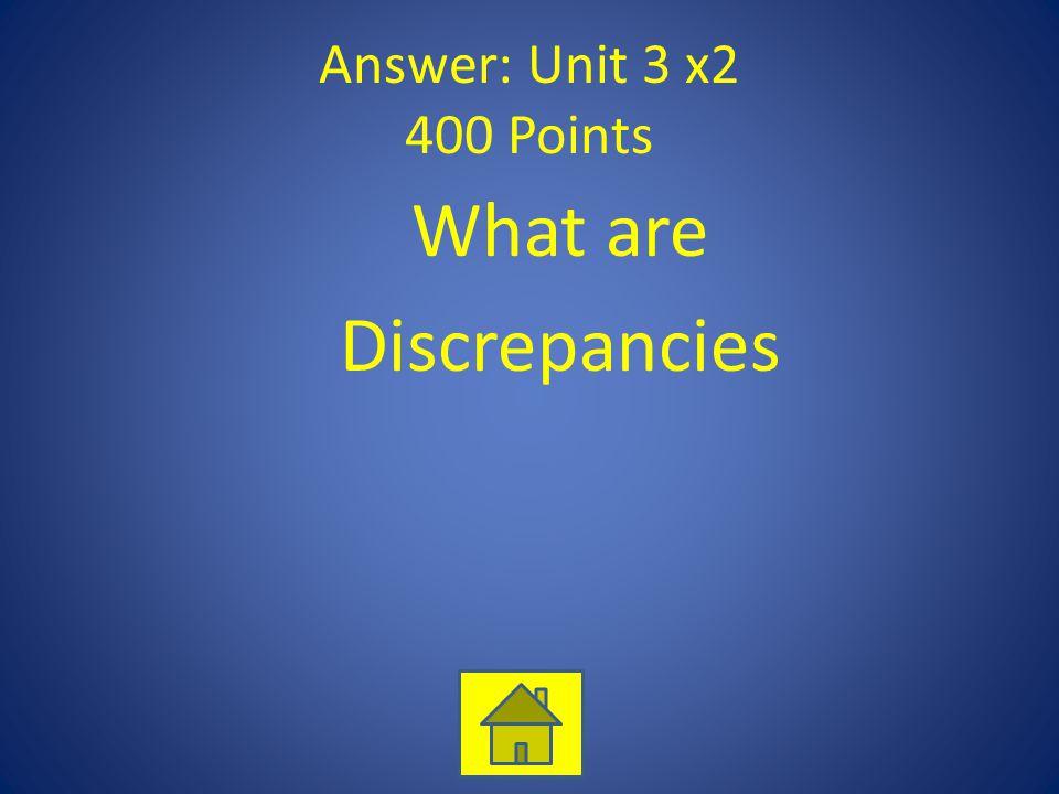 What are Discrepancies