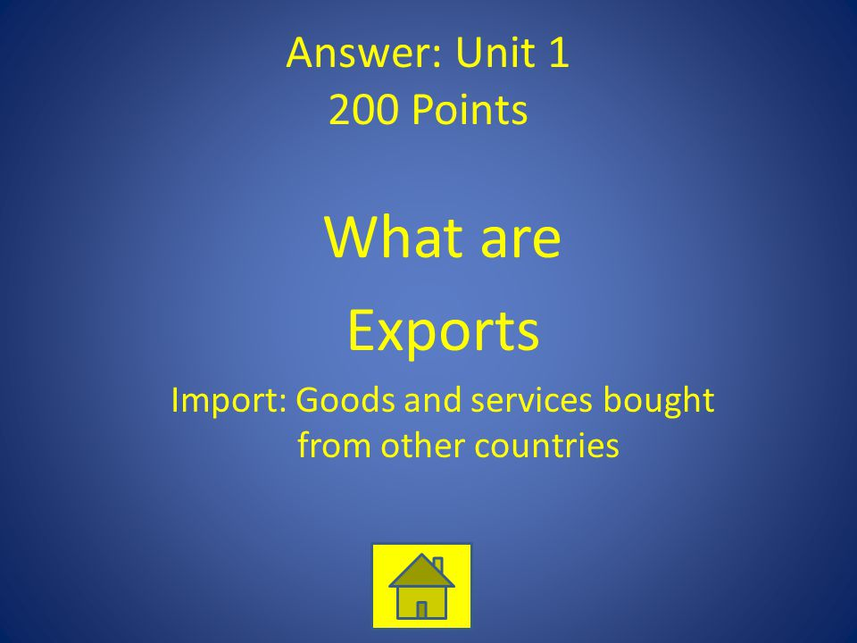 Import: Goods and services bought from other countries