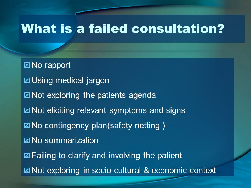 What is a failed consultation