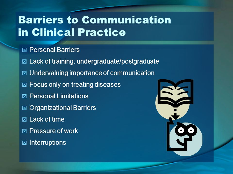 Barriers to Communication in Clinical Practice