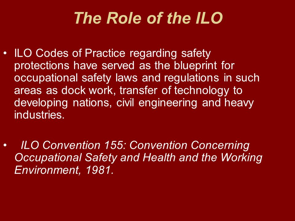 The Role of the ILO