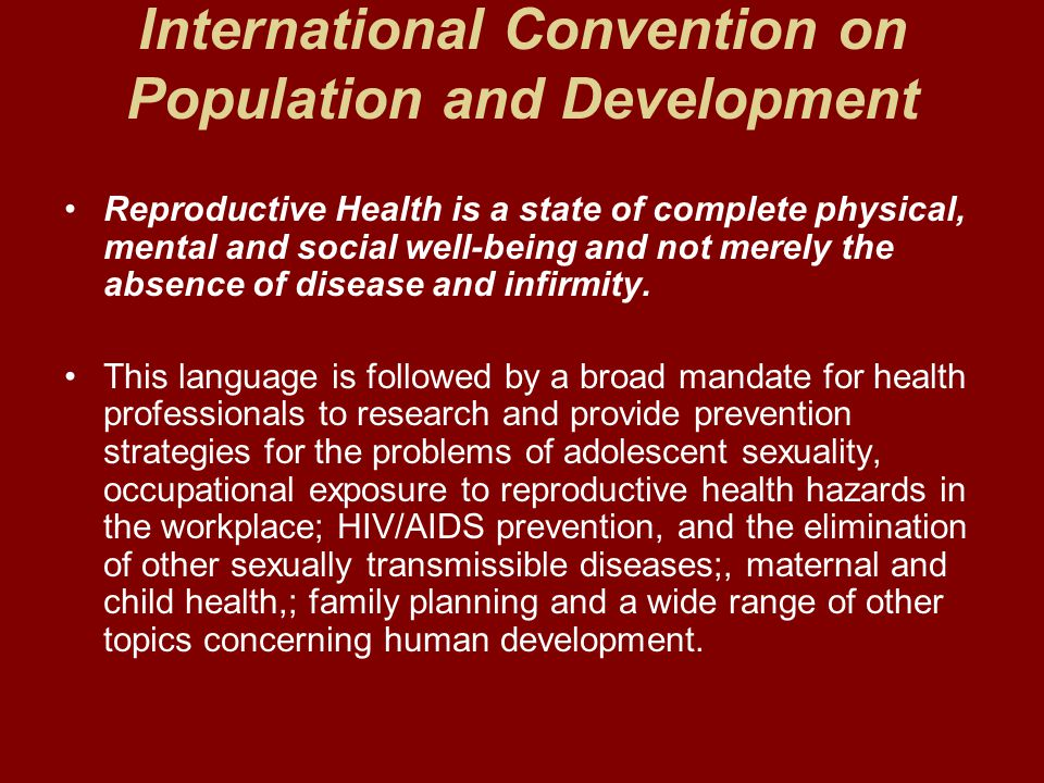 International Convention on Population and Development
