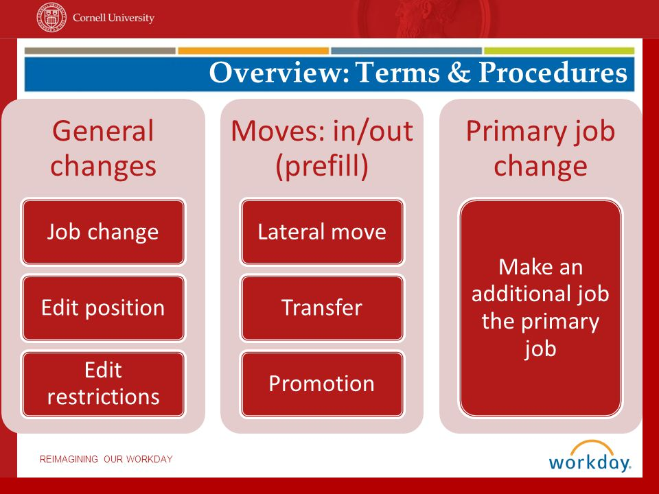 Overview: Terms & Procedures