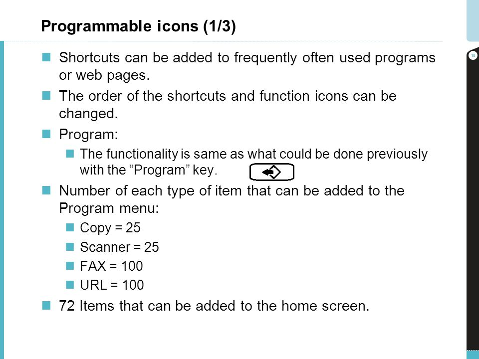 Programmable icons (1/3)