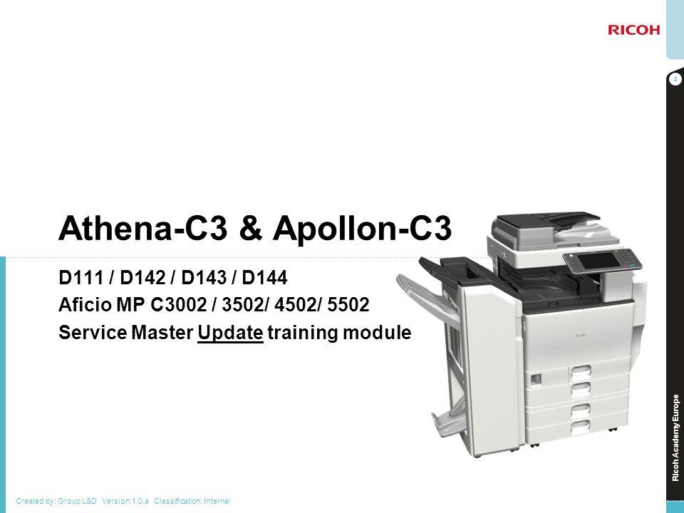 Athena-C3 & Apollon-C3 D111 / D142 / D143 / D144
