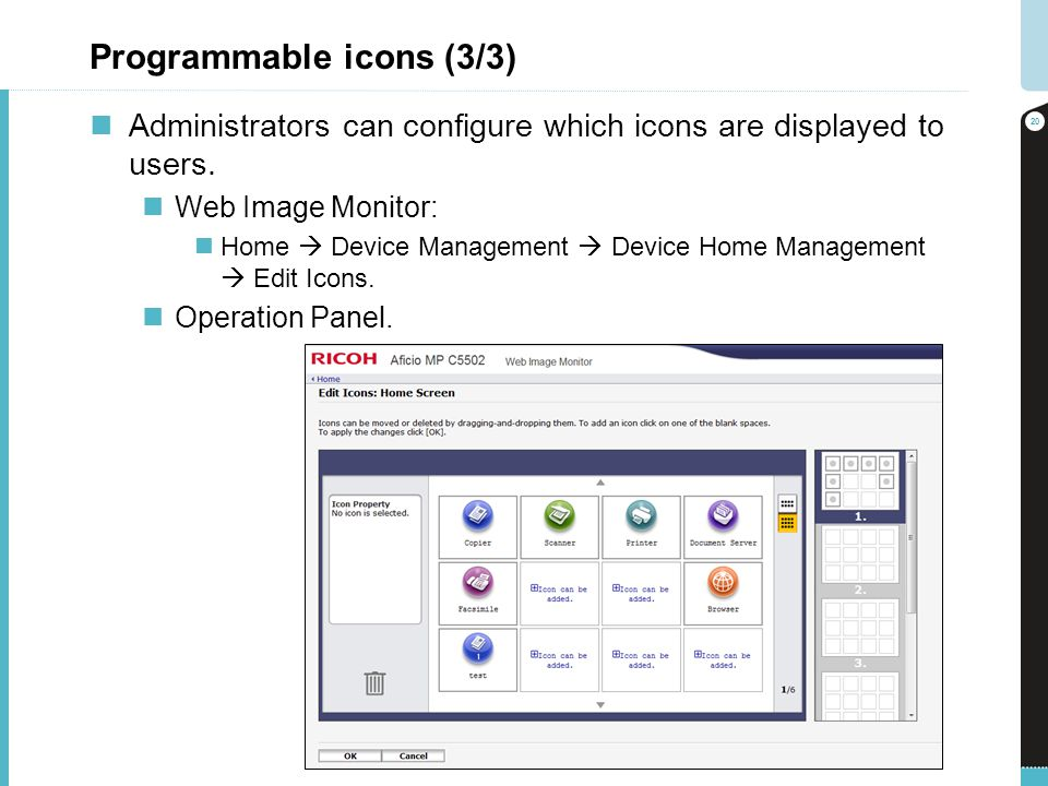 Programmable icons (3/3)
