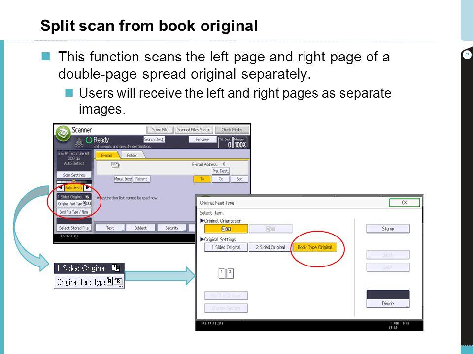 Split scan from book original