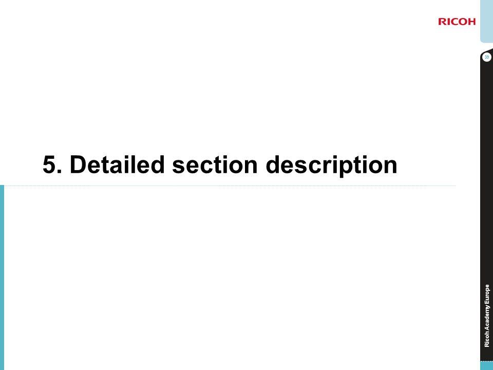 5. Detailed section description
