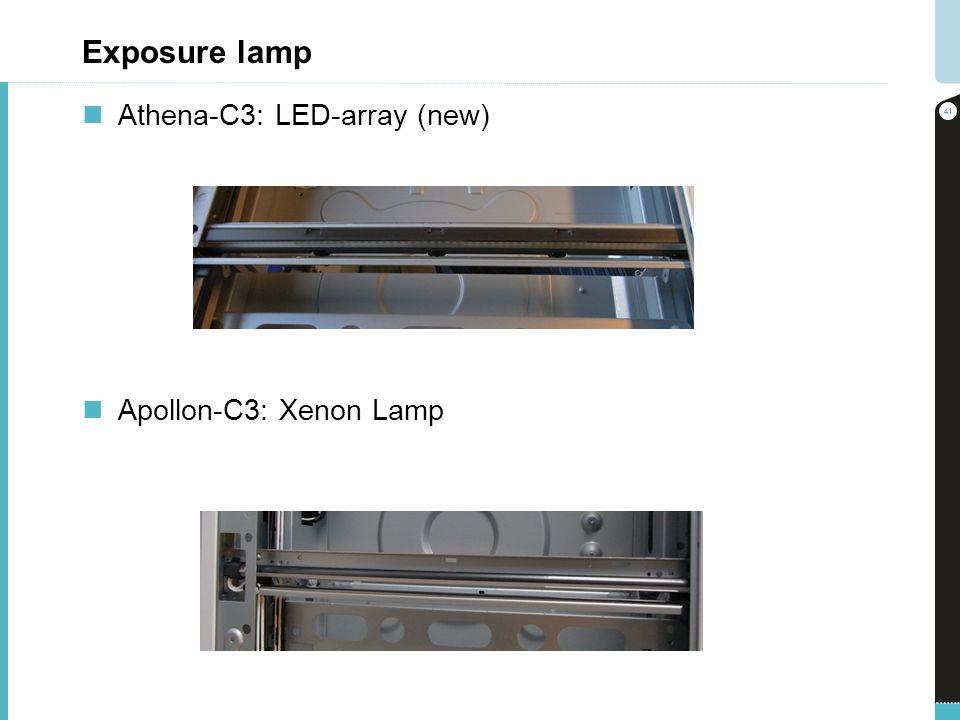 Exposure lamp Athena-C3: LED-array (new) Apollon-C3: Xenon Lamp