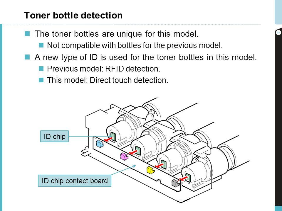 Toner bottle detection