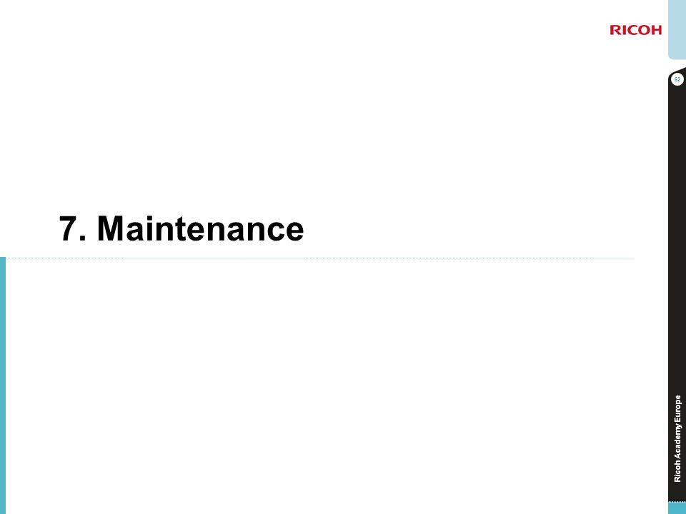 7. Maintenance No additional notes.