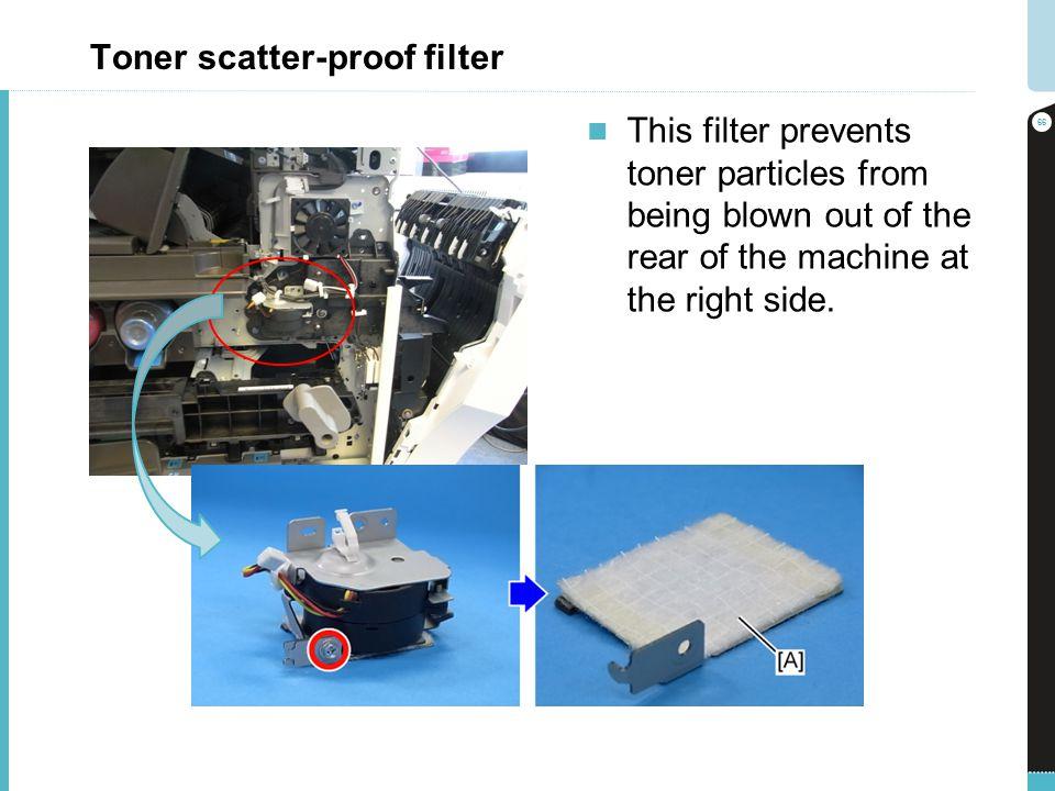 Toner scatter-proof filter