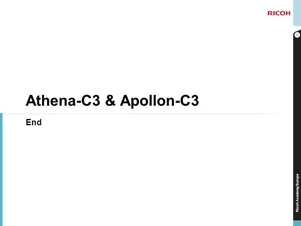 Athena-C3 & Apollon-C3 End No additional notes.