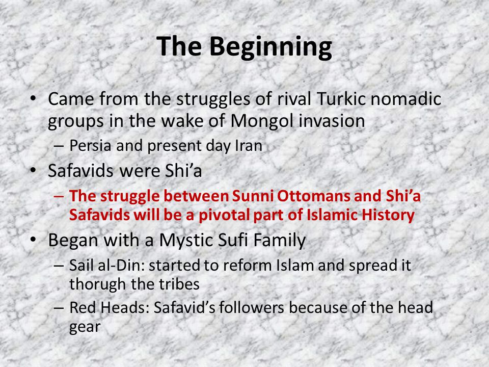The Beginning Came from the struggles of rival Turkic nomadic groups in the wake of Mongol invasion.