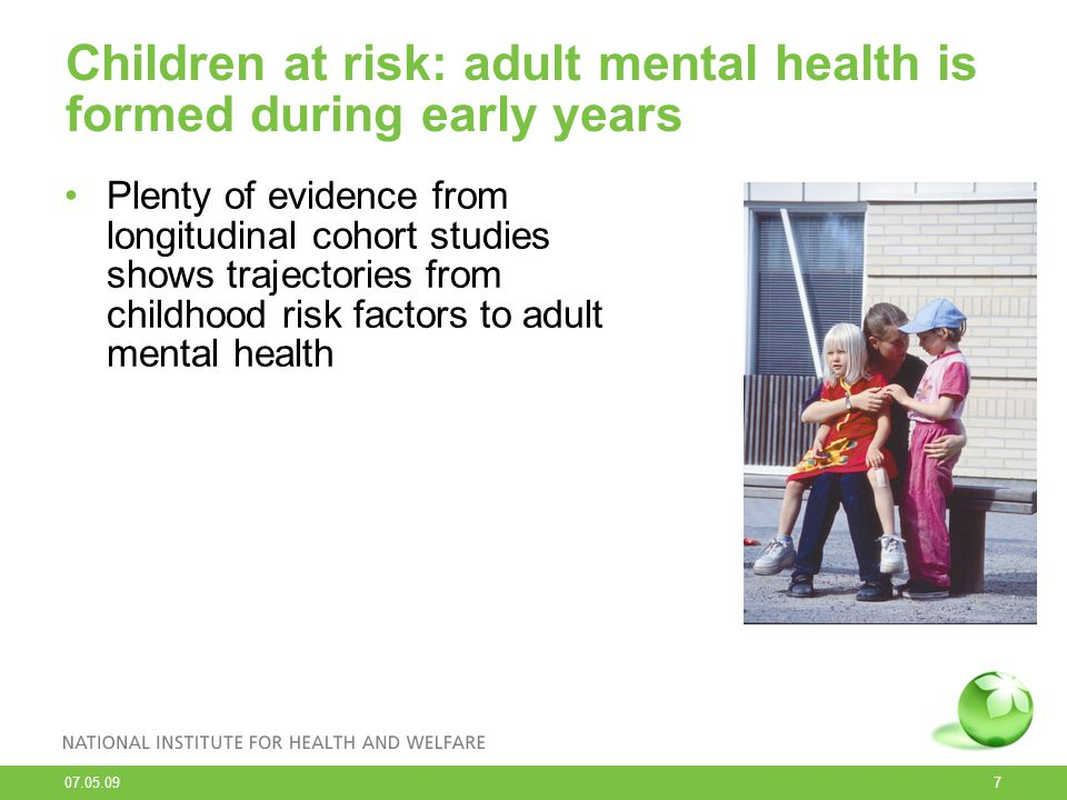 Children at risk: adult mental health is formed during early years