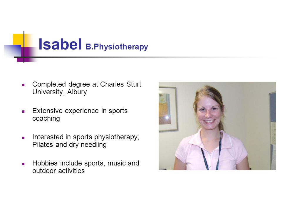 Isabel B.Physiotherapy