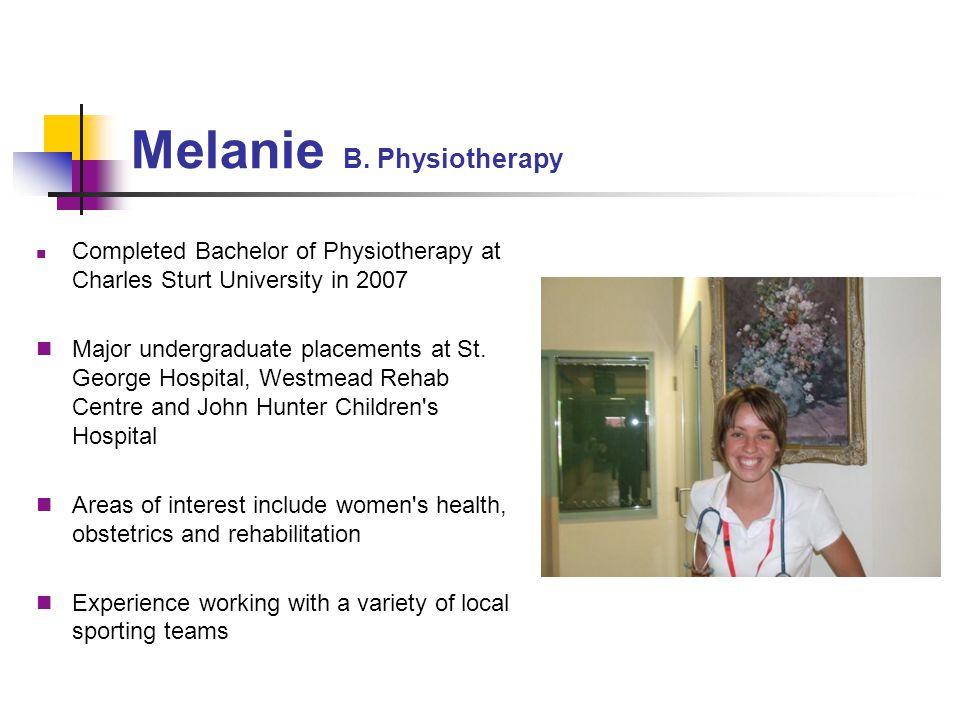 Melanie B. Physiotherapy