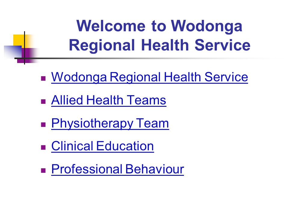 Welcome to Wodonga Regional Health Service