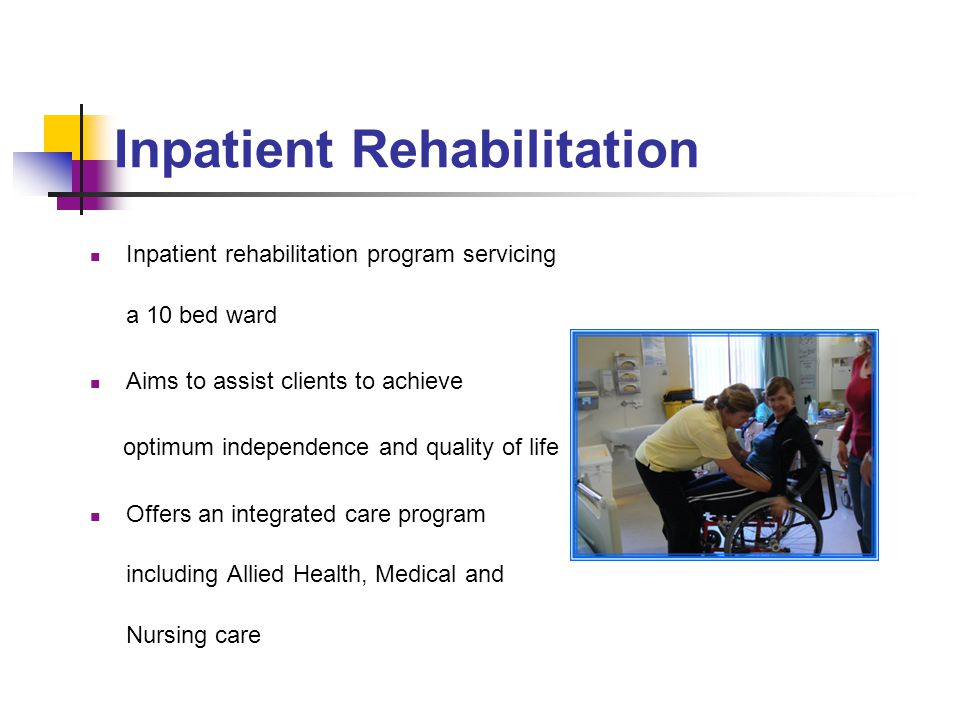 Inpatient Rehabilitation