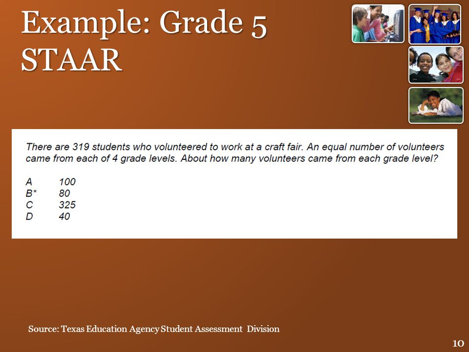 Example: Grade 5 STAAR