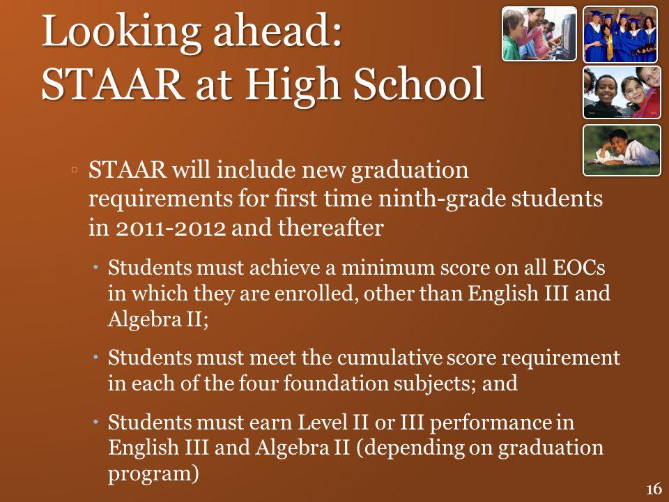 Looking ahead: STAAR at High School