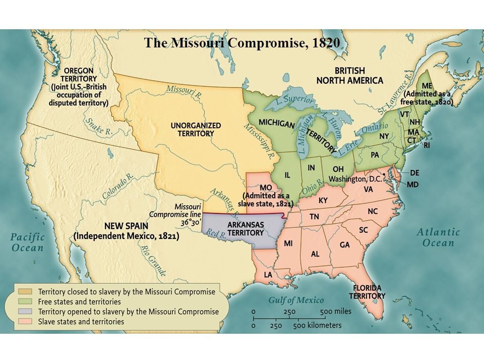 The Missouri Compromise, 1820 • pg. 357