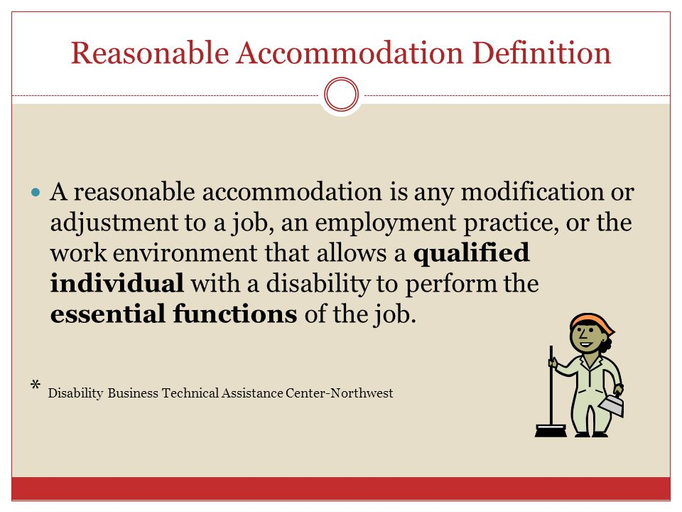 Reasonable Accommodation Definition