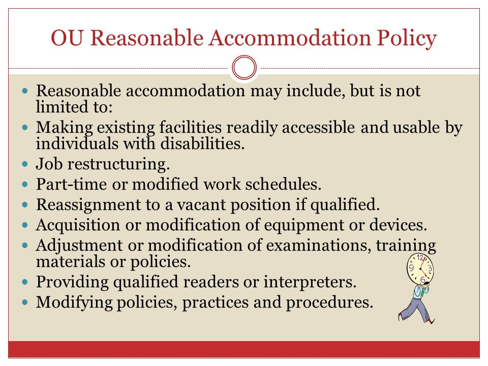 OU Reasonable Accommodation Policy