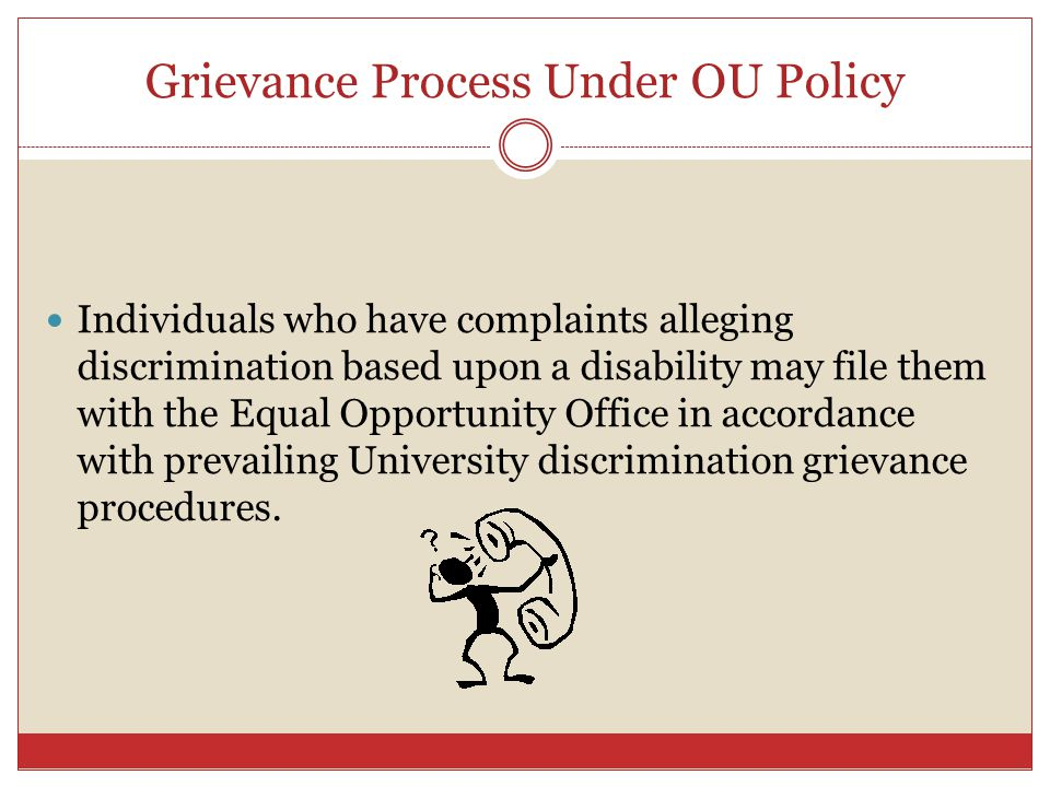 Grievance Process Under OU Policy
