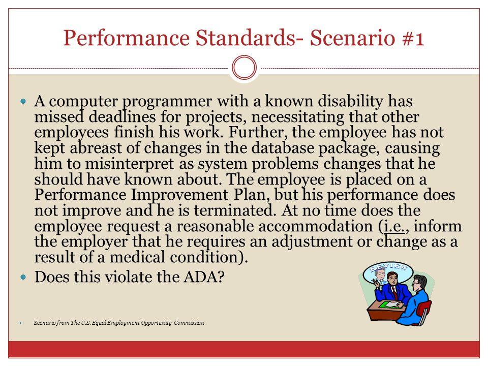 Performance Standards- Scenario #1