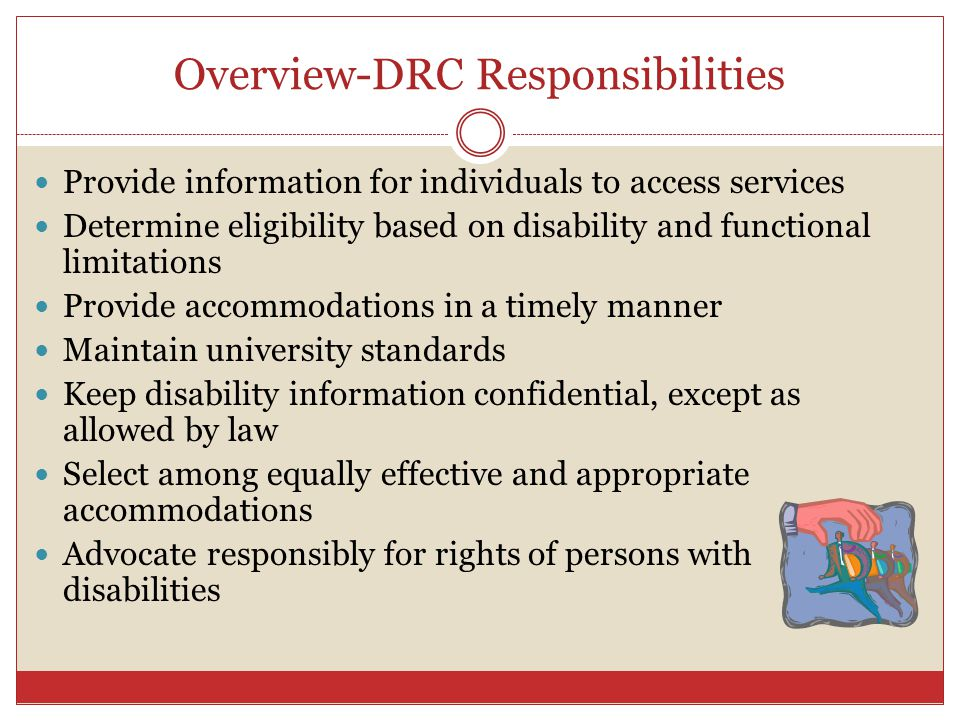 Overview-DRC Responsibilities