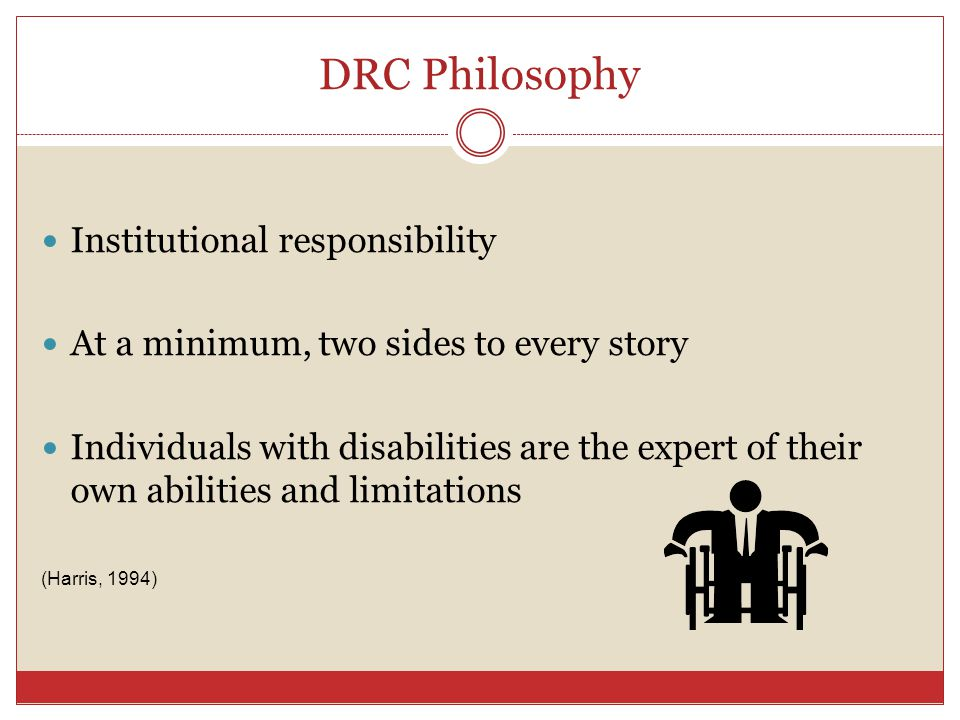 DRC Philosophy Institutional responsibility