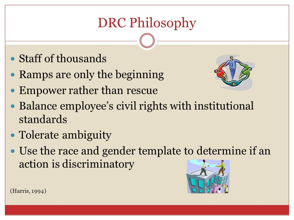 DRC Philosophy Staff of thousands Ramps are only the beginning