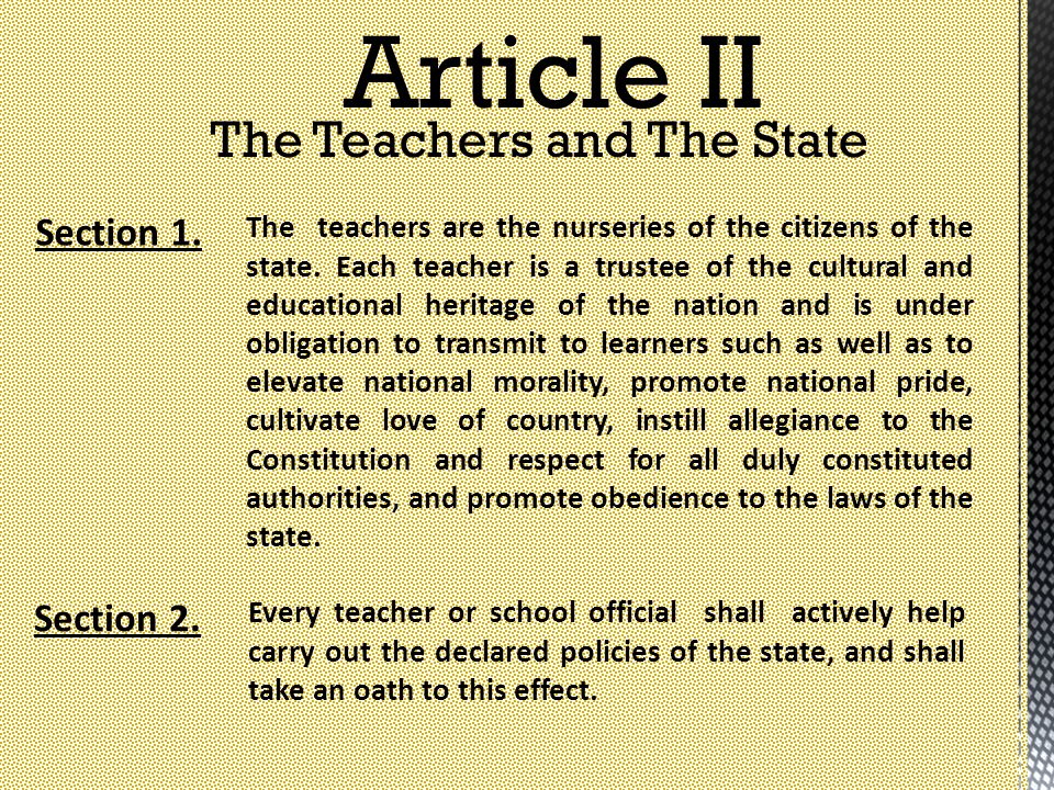 The Teachers and The State