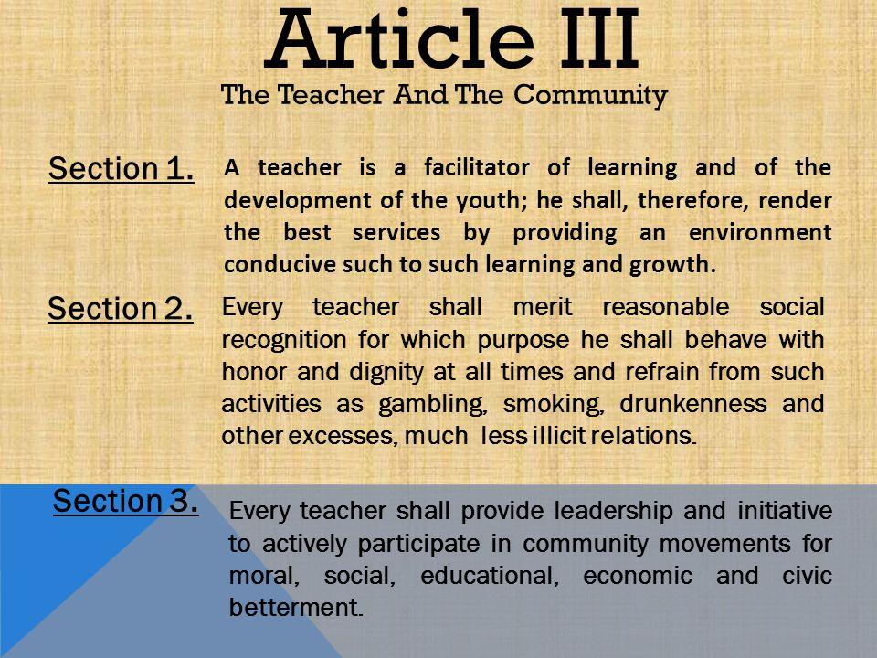 article 26 section iii