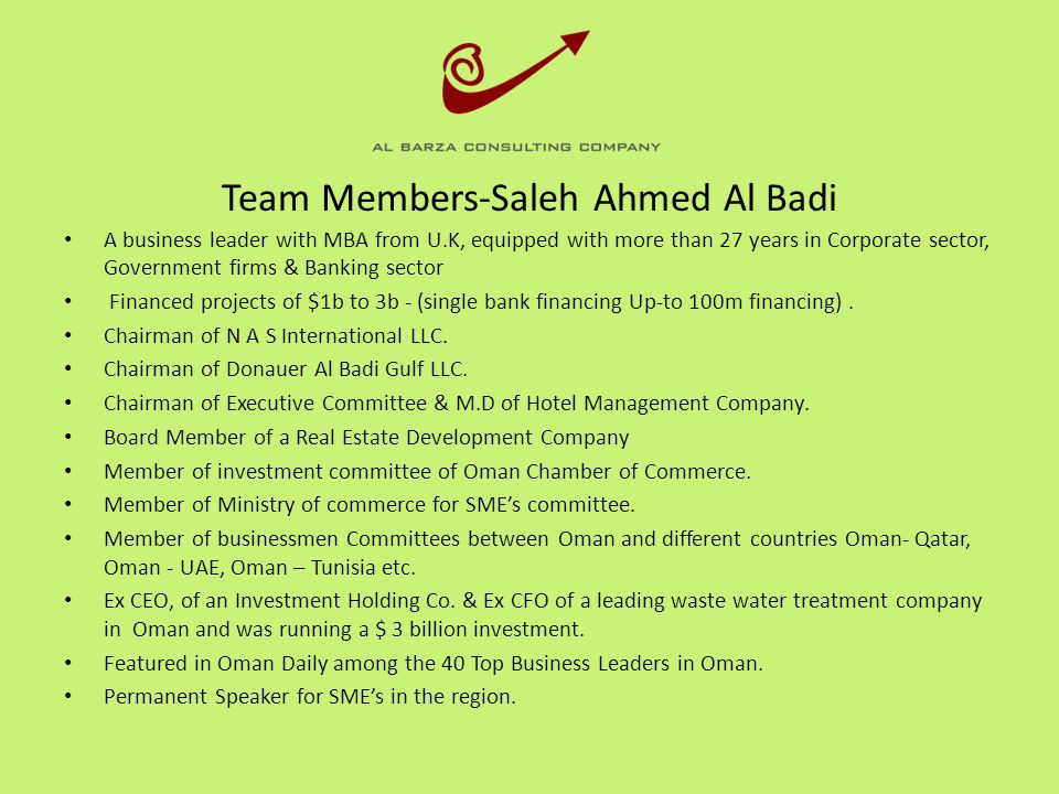 Team Members-Saleh Ahmed Al Badi