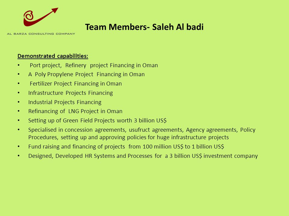 Team Members- Saleh Al badi